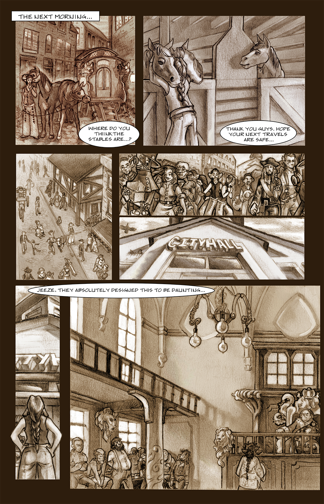 Pg. 2. Discovering the town...
